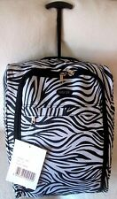 Lightweight-Cabin-Hand-Luggage-Carry-On-Wheeled-Bag-Trolley-Case-Black & White