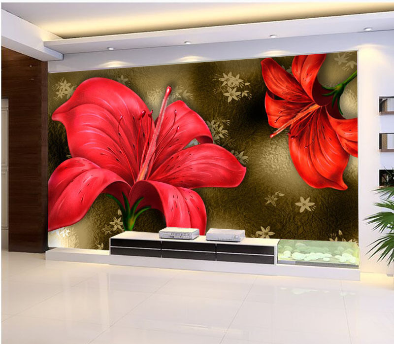 3D Bright ROT Flowers 2646 Paper Wall Print Wall Decal Wall Deco Indoor Murals