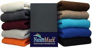 teddy flausch winter spannbettlaken spannbetttuch bettlaken 3 gr en 12 farben ebay. Black Bedroom Furniture Sets. Home Design Ideas