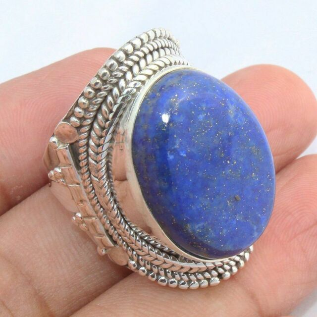 AAA LAPIS LAZULI Pure 925 Solid Sterling Silver Handmade ...
