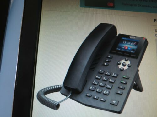 "NEW  Fanvil-X3SP IP Phone Black w//Headset,Base LCD 2.4/"" 10//100 Mbps Ethernet"