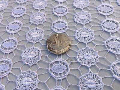 dress fabric Guipure lace per metre /'Mohita/' White sewing