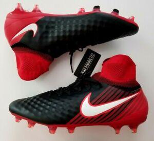 Nike Kids JR Magista Ola II FG Black White University RED Size 1