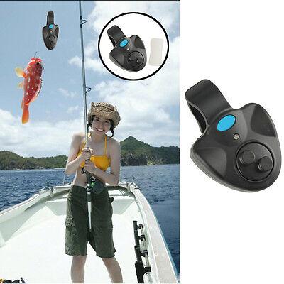 Fish Bite Finder Alarm LED Light Electronic Sound Alert Bell Clip On Fishing Rod