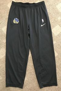 Nike Dry Mens Basketball Pants Gray Size 4XLT Tall NBA Golden State Warriors