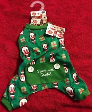 Pet Central Green Penguins Holiday Buddy Dog Pajamas Size Small - With Tags