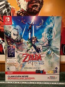 Legend of Zelda Skyward Sword Poster Video Game Poster GameStop Nintendo Switch