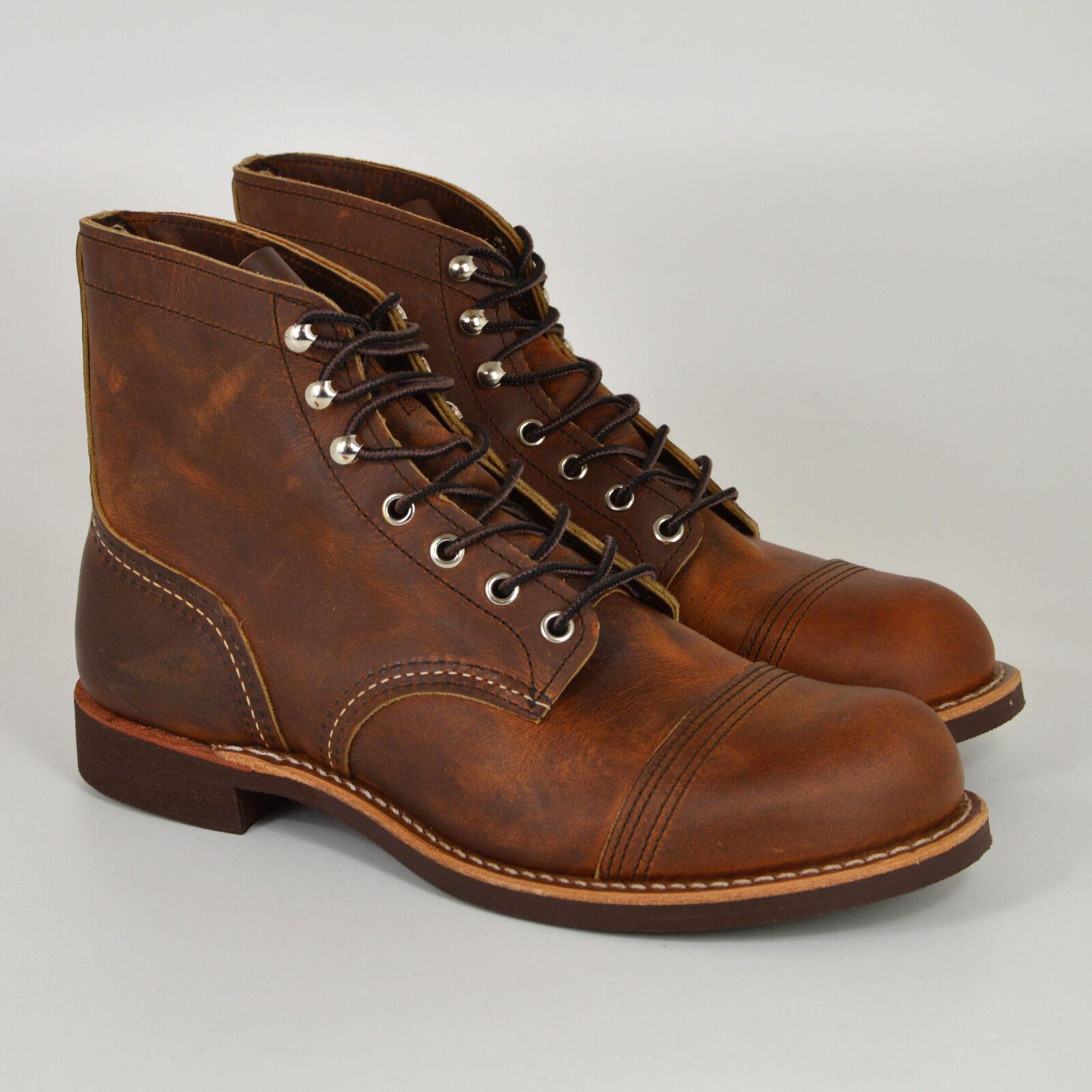 Red Wing Shoes 8085, Iron Ranger Boots, Copper Rough & Tough, Braun, Leder, Neu