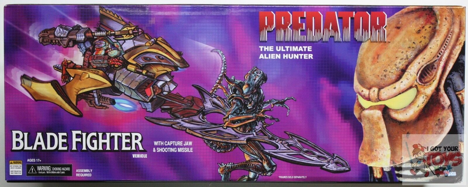 NECA BLADE FIGHTER THE ULTIMATE ALIEN HUNTER Kenner PROTATOR 2015 VEHICLE