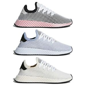 Details about New Authentic Adidas Deerupt Runner W Women Fashion Shoes  Black Blue White NIB