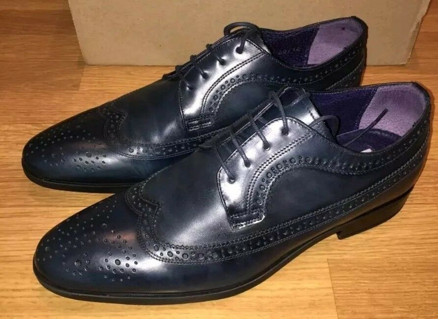 Next Italia shoes Leather Brogues Teal RARE NEW RRP  REDUCED - FREE POST