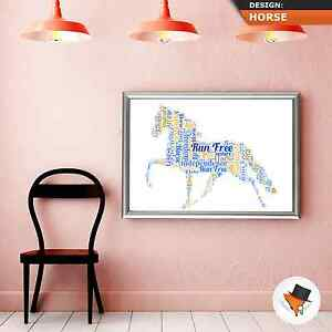 HORSE-WORD-ART-PERSONALISED-UNIQUE-CHRISTMAS-PRESENT-BIRTHDAY-GIFT-IDEA-HIM-HER