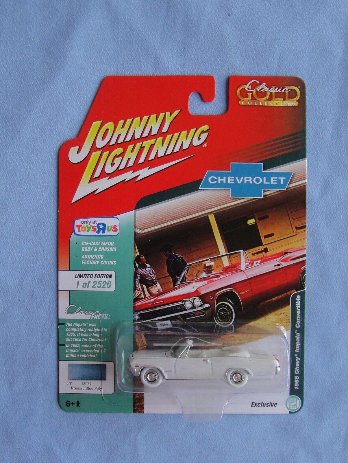 1965 '65 CHEVY IMPALA CONVERTIBLE TOYS R US JOHNNY blanc  lumièreNING CHASE Rare  juste l'acheter