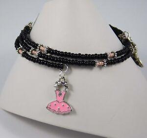 Details About Black White Brown Memory Wire Bracelets Handmade Swarovski Crystal Gems