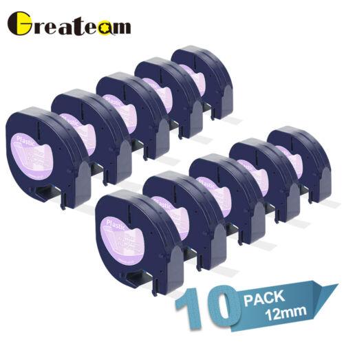 10PK 16952 Dymo LetraTag Refills Compatible Clear Label Tape Label Maker 12mm LT