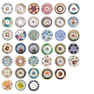 Image Is Loading Museum Collection Floral Tin Enamel Plates 26 Cm