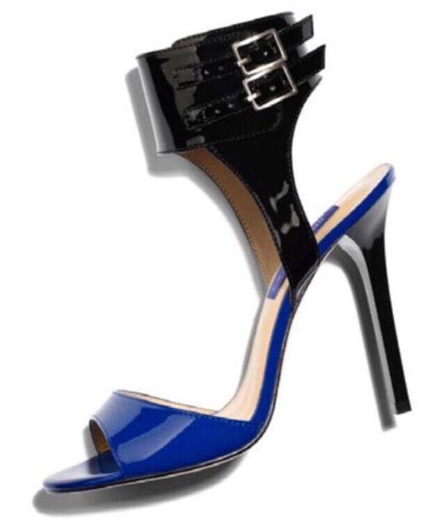 Jimmy De choo for h&m Bombas Zapatos De Jimmy Taco Azul y Negro Tamao USA d49d28