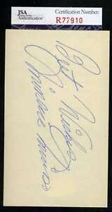 Minnie-Minoso-Jsa-Coa-Autographed-3x5-Index-Card-Hand-Signed-Authentic