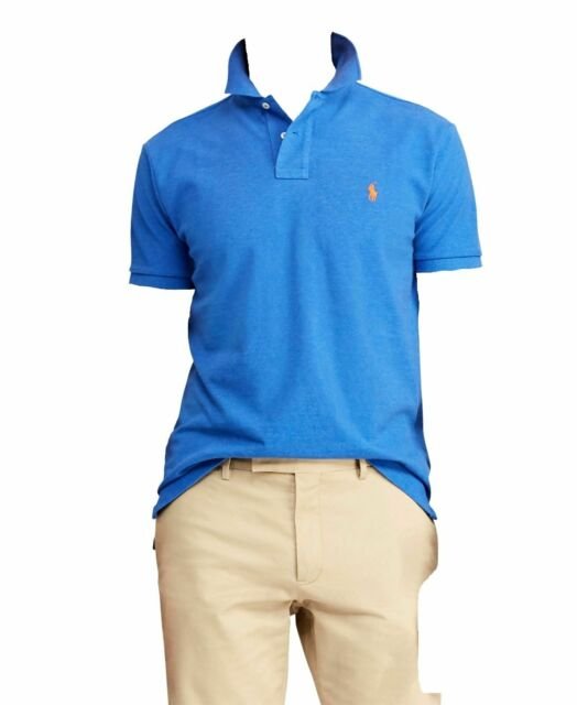 NWT Polo Ralph Lauren Blue Shirt Mens Size XL XXL Short Sleeve Cotton Mesh