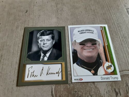 Kennedy /& Donald Trump Collectible Trading Cards John F