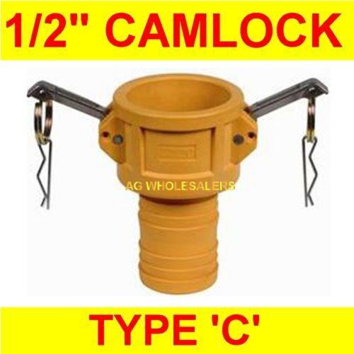 CAMLOCK NYLON TYPE C 1/2 CAM LOCK IRRIGATION FITTING