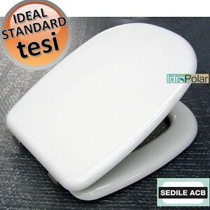 Nuovo Sedile Copri Wc Tesi Ideal Standard Tavoletta Acb Ercos Anima In Legno Ebay