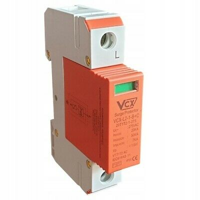 Surge Protection Device Fusebox Type 1+2 Type 2 18th Edition 1 Phase