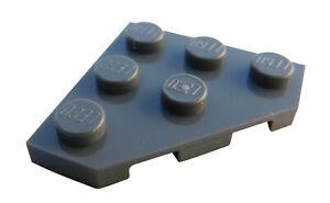 Lego-10-Stueck-Platte-Ecke-diagonal-3x3-dunkelgrau-dark-bluish-gray-2450-Neu