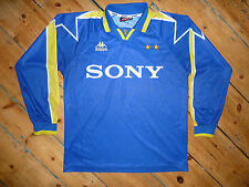 large JUVENTUS ITALY 1995/96 AWAY FOOTBALL SHIRT MAGLIA JERSEY KAPPA LONG SLEEVE