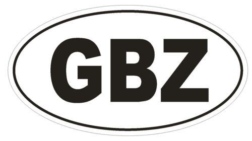 Gbz Gibraltar code Pays Ovale Autocollant ou Casque Autocollant D974