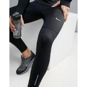 Men-039-s-Nike-Power-Essential-Training-Leggings-Tight-Gym-Size-UK-Small-S-Black-NEW