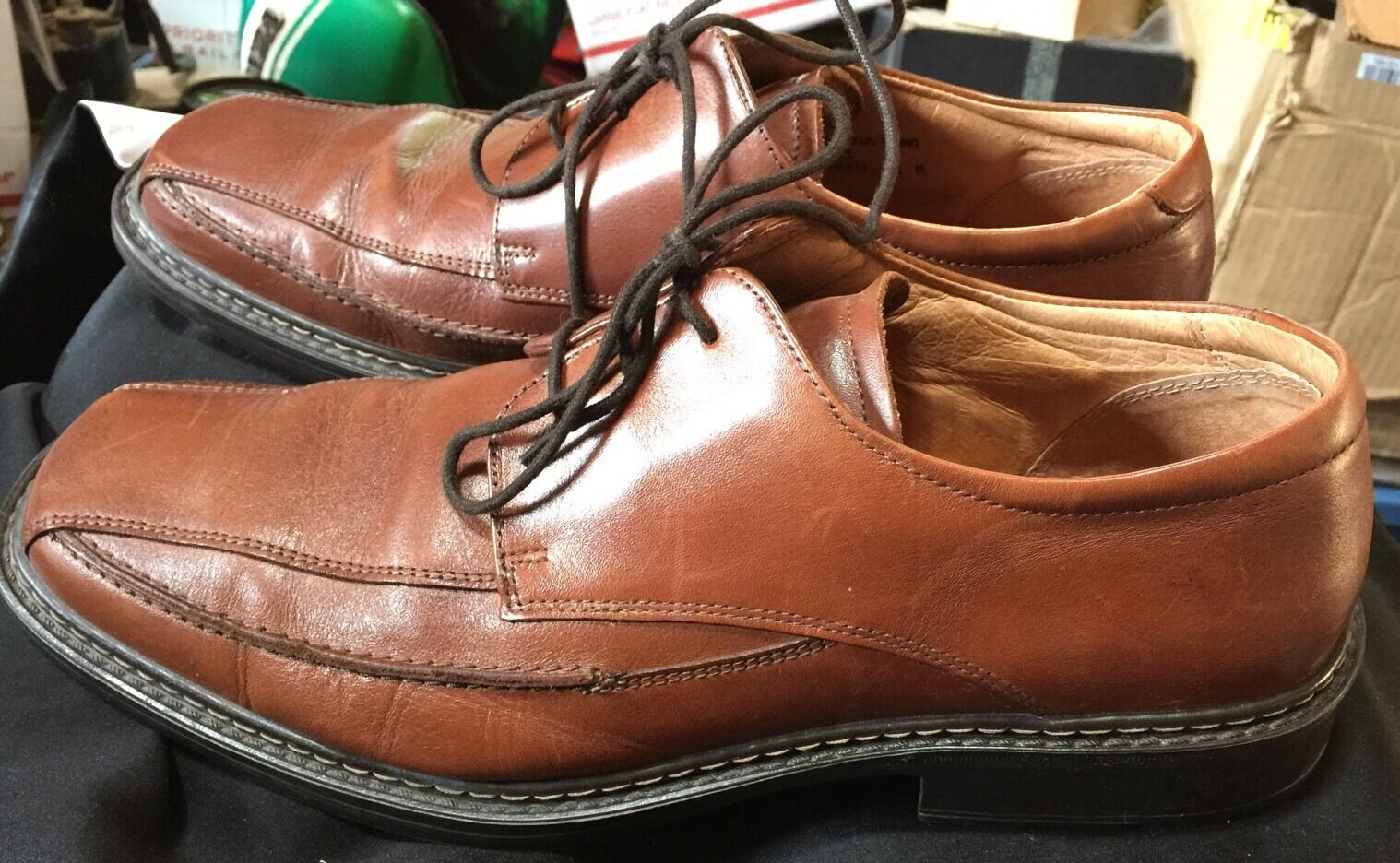 Venturini Mens Brown Leather Oxford shoes 11.5 Made in  Outstanding Quality