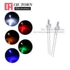 100pcs 5lights 2mm Flat Top Water Clear Led Diodes White Red Blue Mix Kits