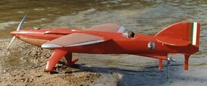piaggio-pegna pc.7 experimental seaplane racer aircraft wood model