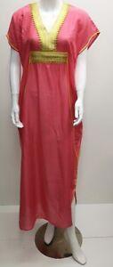 Kaftan-Maxi-Dress-Moroccan-Abaya-Dubai-Long-Arabian-Farasha-Eid-one-size-8-24-UK