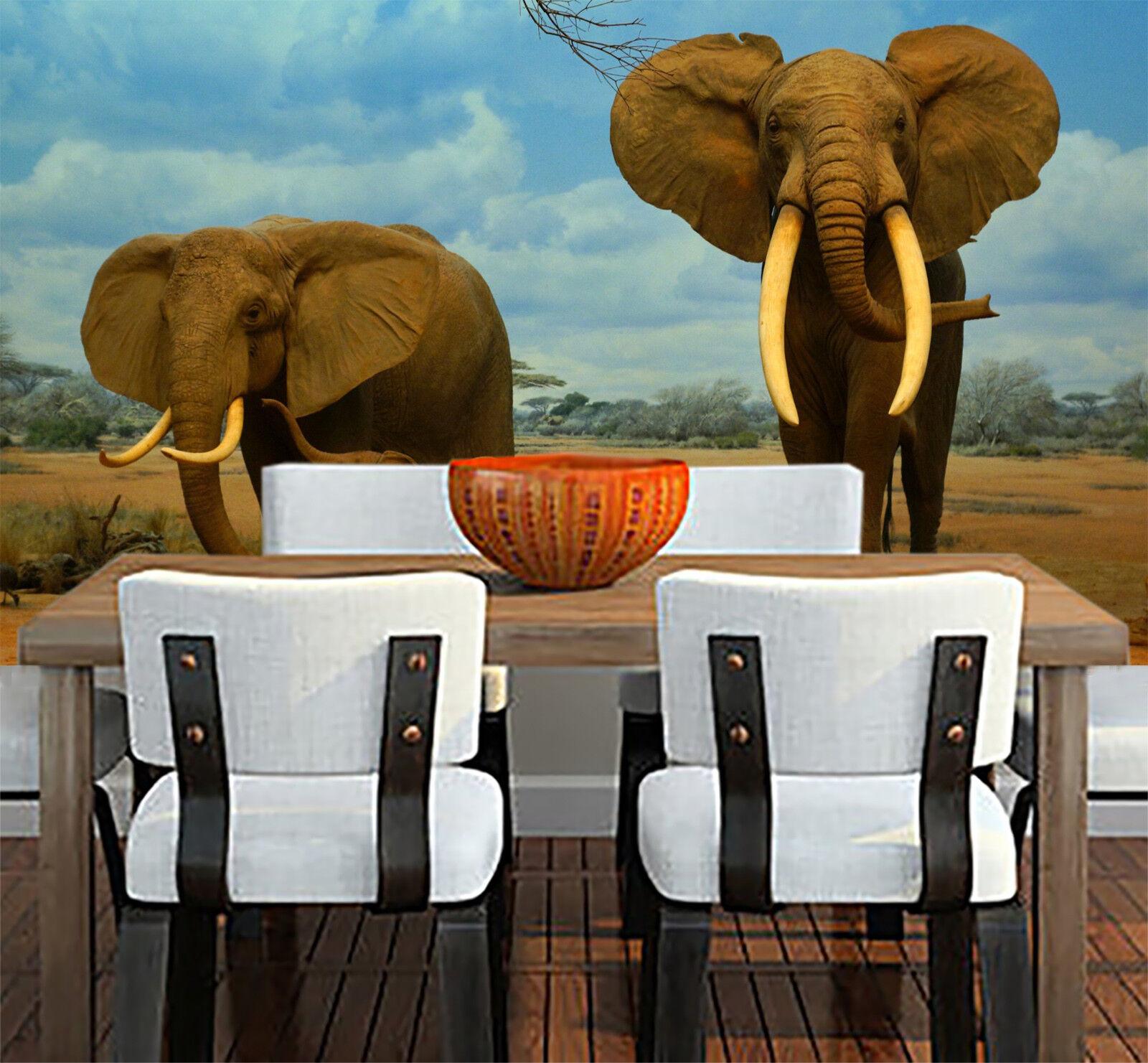 3D Himmel Elefant 662 Tapete Tapeten Mauer Foto Familie Tapete Wandgemälde DE