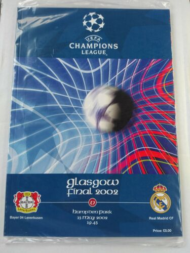 2002 Uefa Champions League Final Bayer Leverkusen v Real Madrid + 1960 EC Final