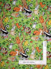 Skunk Rabbit Bee Fox Scenic Cotton Fabric Fabriquilt Inc Krazy Kritters - Yard