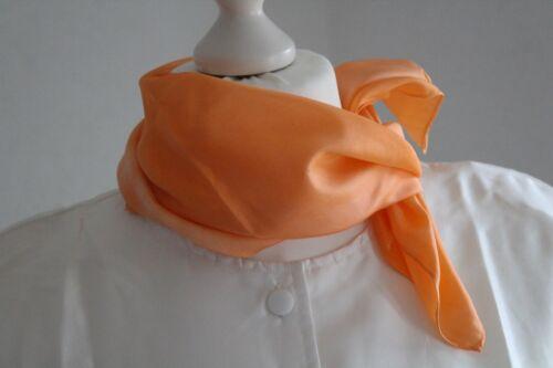 Tuch oder Schal aus Seide Farbgeflüster orange Handarbeit Seidentuch Seidenschal