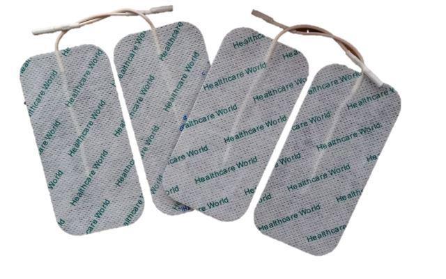 Grandes TENS EMS électrodes autocollantes x 8 Pour Appareil d'électrothérapie