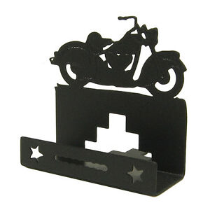 Classic motorcycle black metal business card holder ebay image is loading classic motorcycle black metal business card holder colourmoves Images