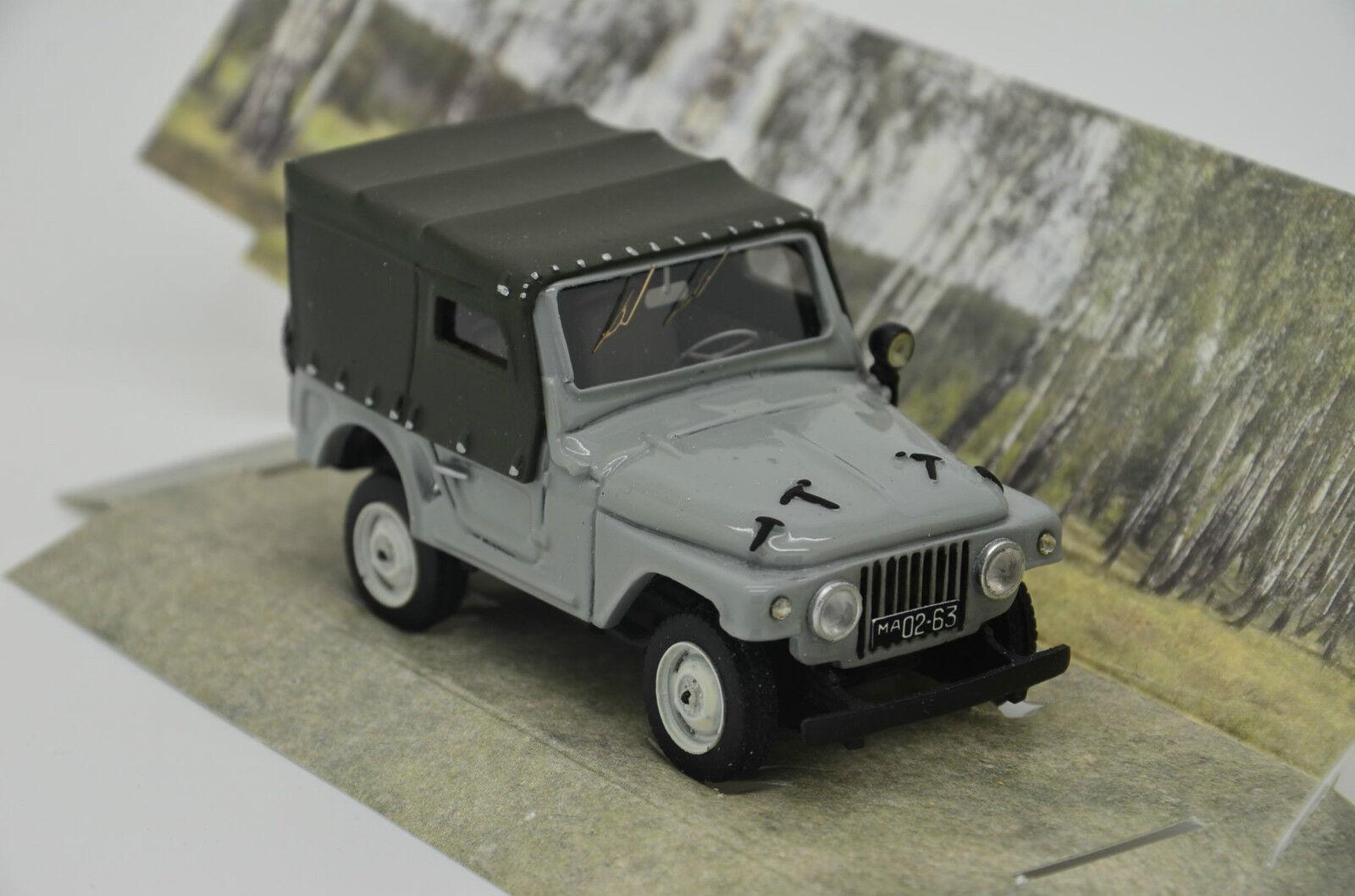 Rara Moskvich 415 ruso Jeep 4x4 grigio hecha a mano de 1 43