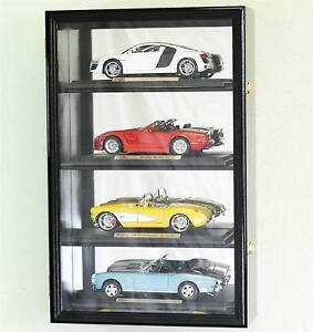 1:18 Scale Diecast Car Model Display Case Rack Holds 4 * LED LIGHTS * 98% UV
