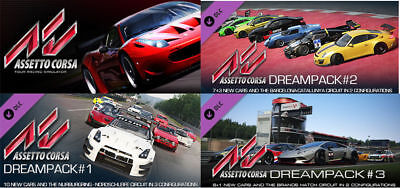 Assetto Corsa + Dream Packs (COMPLETE) Steam Game Key (PC) - REGION FREE |  eBay