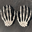 Halloween-Skull-Skeleton-Human-Hand-Bone-Zombie-Party-Terror-Adult-Scary-Props miniature 1