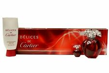 DELICES DE CARTIER BY CARTIER GIFT SET WITH EAU DE TOILETTE SPRAY 100ML NIB