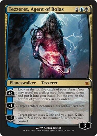 Tezzeret, Agente by Bolas - Agent of BOLAS MAGIC Mirrodin Besieged Eng Ita
