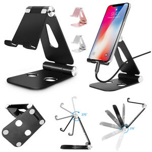 more photos 90fef ae681 Details about Portable Aluminum Desk Stand Desktop Holder Samsung S10 Note  9 8 iPhone 7 8 XR 6