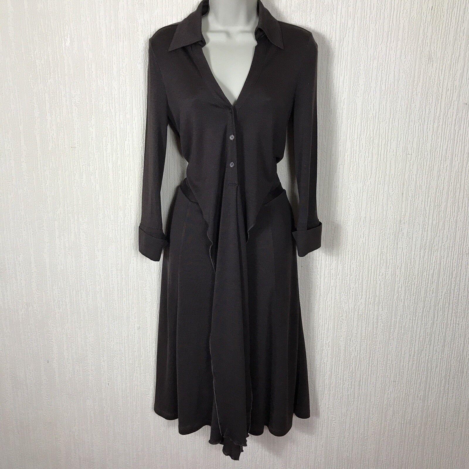DIANE von FURSTENBERG ELI Dress Größe 8 UK Button Shirt Style Fit&Flare