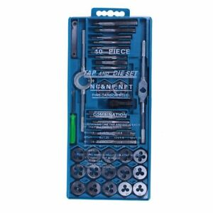 Tap-and-Die-Set-40-Piece-w-Case-Tapping-Threading-Chasing-Repair-NEW-L6E3
